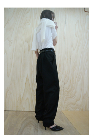 pot wide slacks (black)