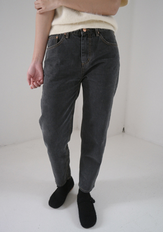 gray tone straight pants (2colors)
