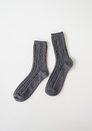 twist knit socks (5colors)