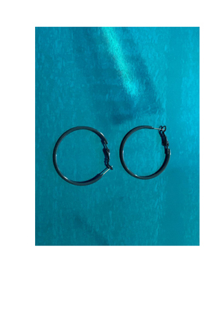 cool mood hoop earrings (2colors)